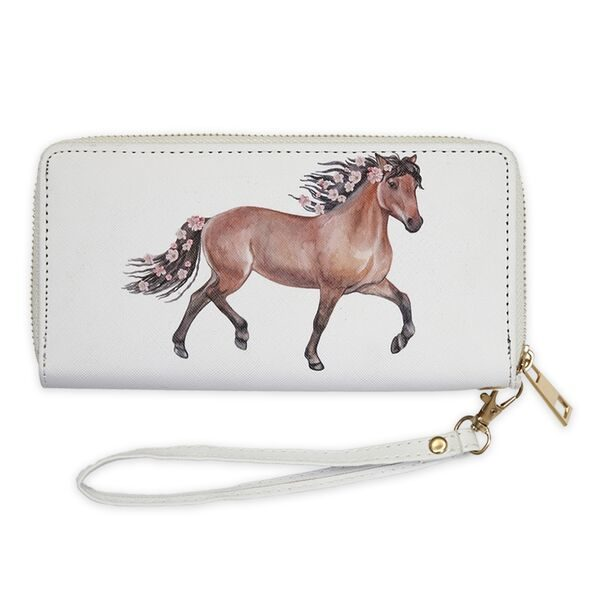 AWST International Wallet with Bay Horse & Flowers