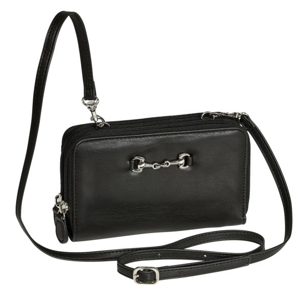 AWST International Black Snaffle Bit Crossbody Bag