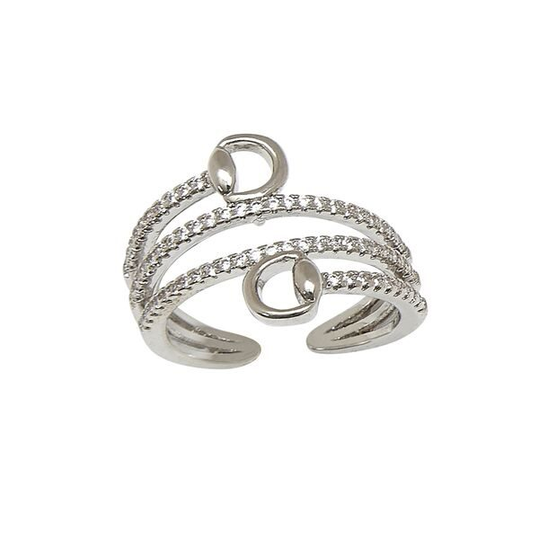 AWST International Rhodium Spiral Snaffle Bit Ring
