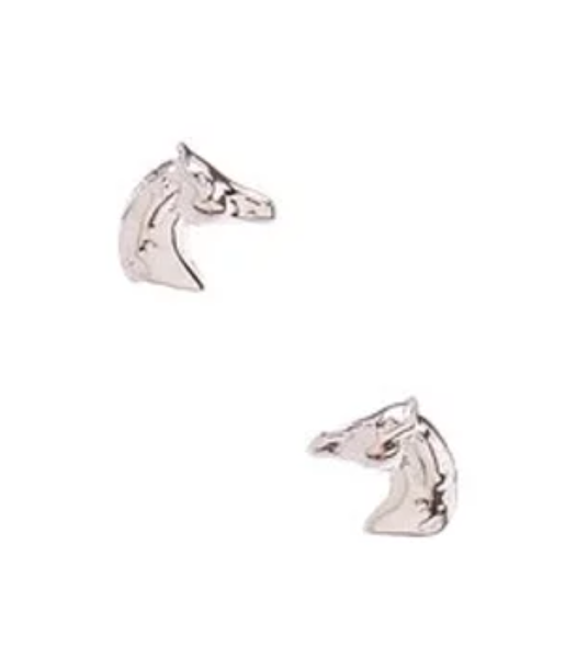 AWST International Sterling Silver Horse Head Earrings