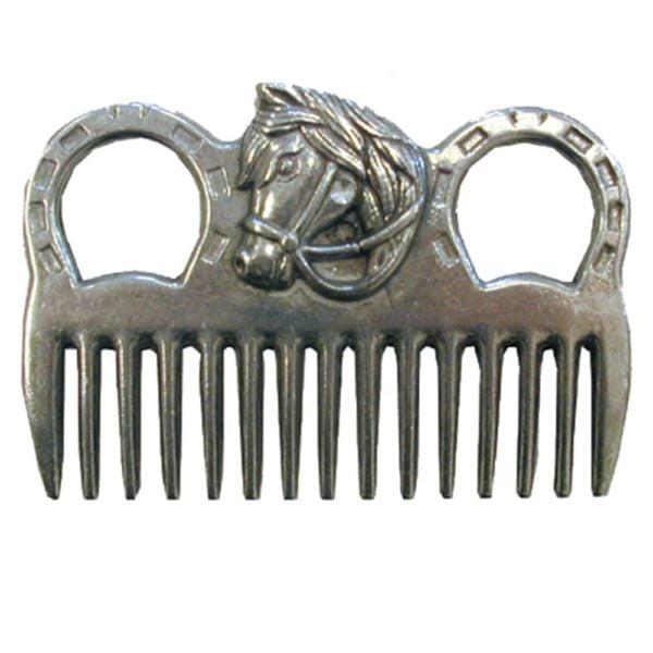 Aluminum Mane Comb W/Horse Head