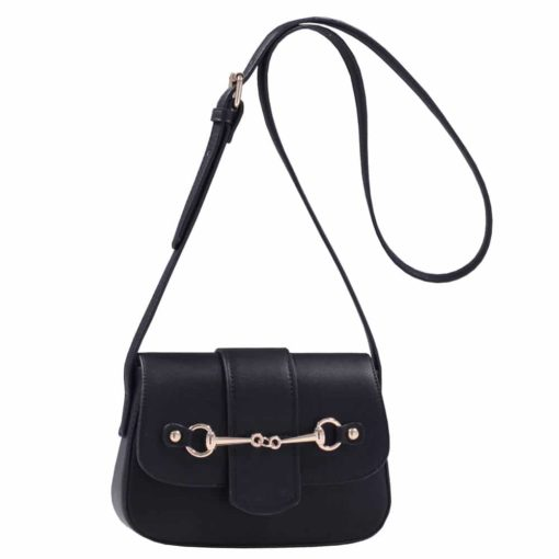 Cross Body Snaffle Bit Handbag Black