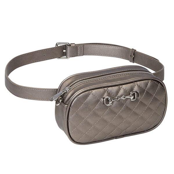 Metallic Snaffle Bit Waist/Crossbody Bag