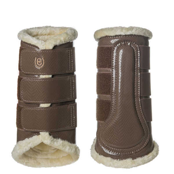 Equestrian Stockholm Champagne Brushing Boots Back