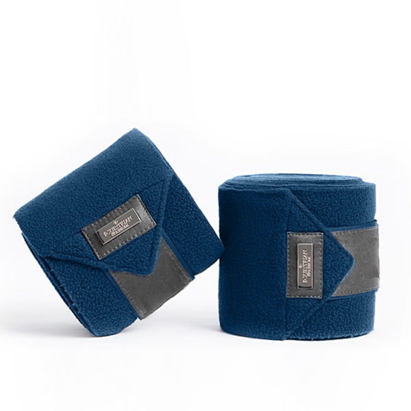 Equestrian Stockholm Fleece Polo Wrap Bandages Moroccan Blue