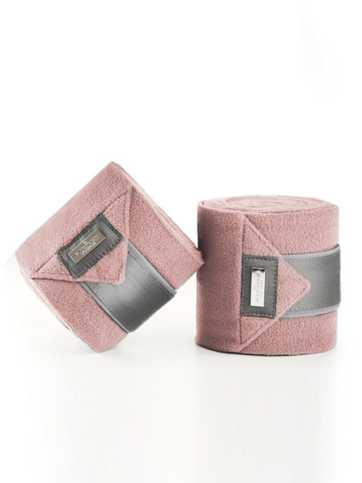 Equestrian Stockholm Fleece Polo Wrap Bandages Pink