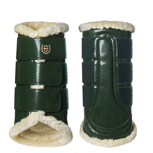 Equestrian Stockholm Forest Green Brushing Boots Front