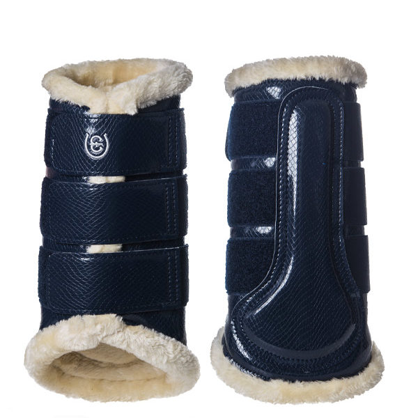 Equestrian Stockholm Navy Brushing Boots Back