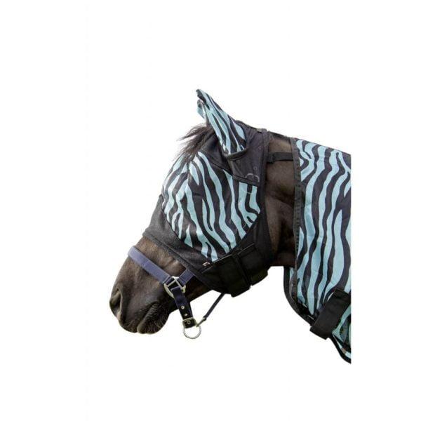 HKM Fly Mask Zebra Aqua