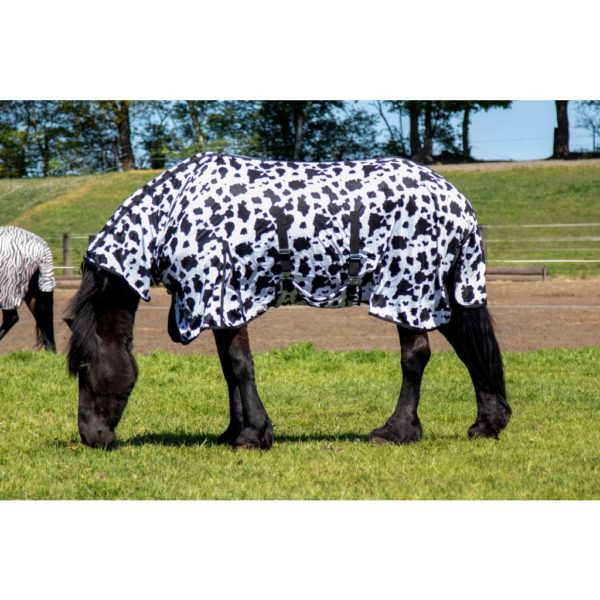 HKM Fly Sheet with Neck Piece Cow Print