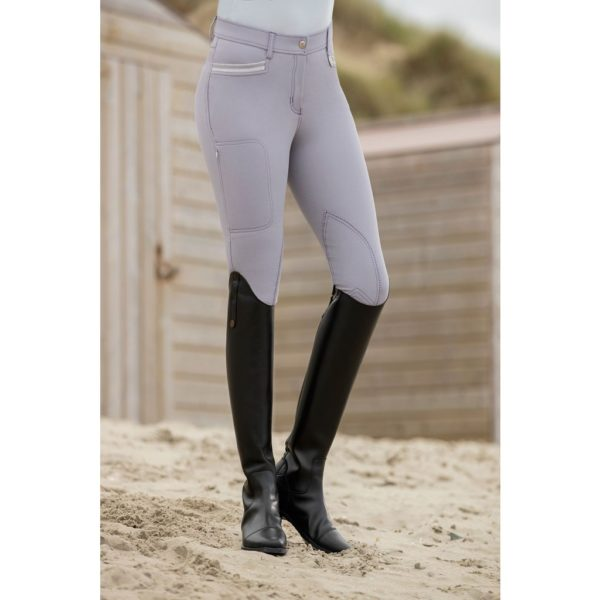 HKM Mondiale Riding Breeches EVA Flap Knee Patch Gray