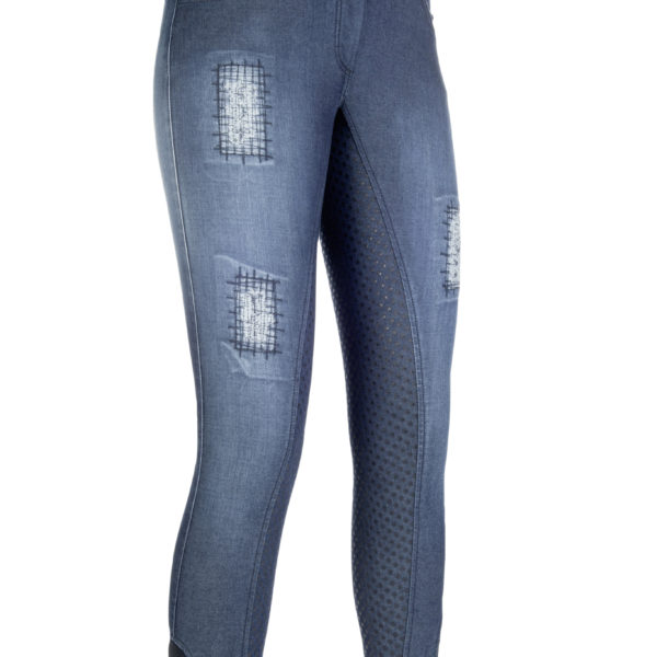 HKM Riding Breeches Hard Used Silicone Full Seat