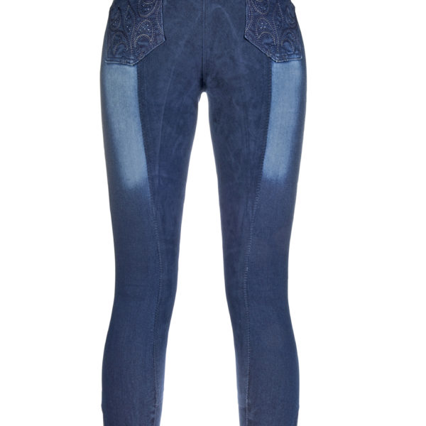 HKM Riding Breeches Jeggings Flower Crystal 34 Alos