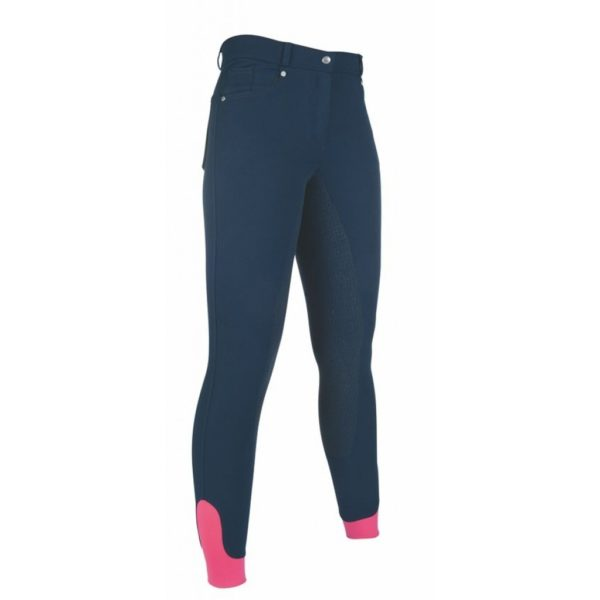 HKM Style Riding Breeches Silicone Full Seat 5 Pockets