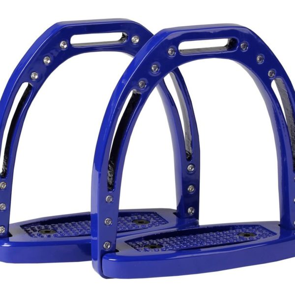 Horka Aluminum Stirrup Irons Cobalt Blue