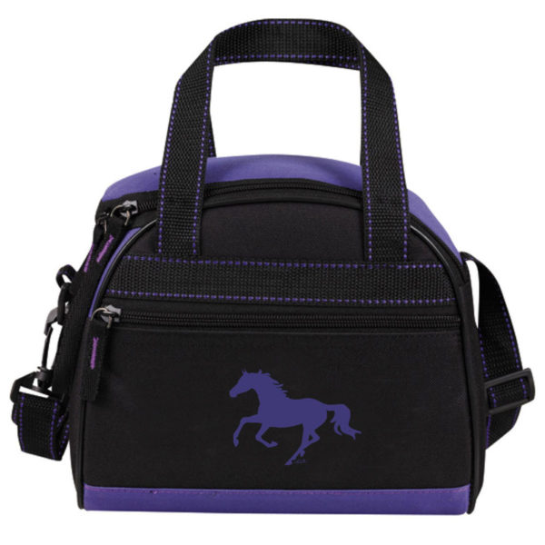 LUNCH COOLER GALLOPING HORSE PURPLE-BLACK