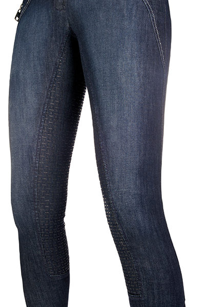 Navy Boots Riding Pants Full Trim Lauria garrelli jodhpurs Jeans Size 44