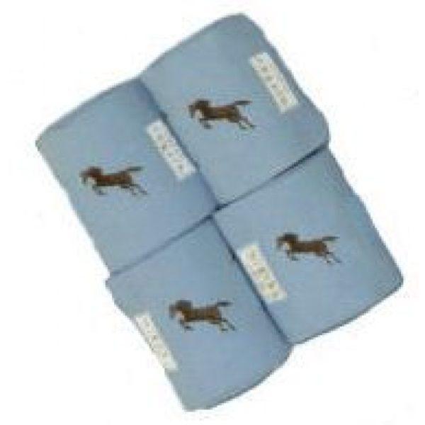 Lettia Embroidered Polo Wraps: Powder Blue w/ Jumper