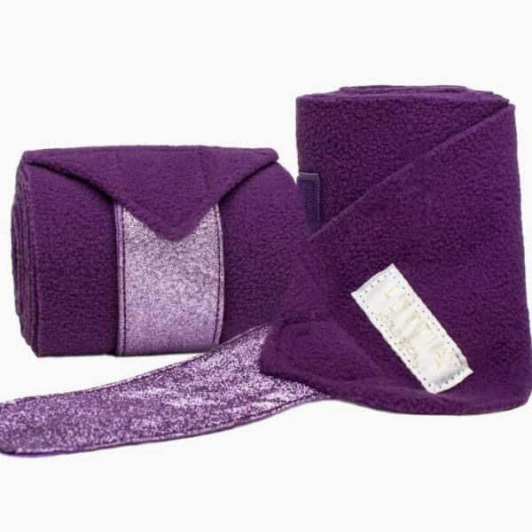 Léttia Sparkle Polo Wraps Purple