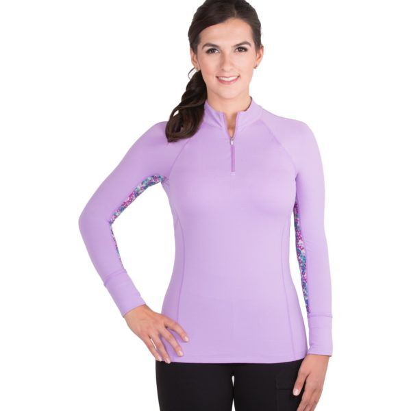 Noble Outfitters Ashley Performance Shirt Long Sleeve Hyacinth