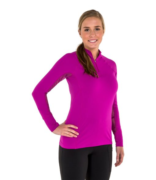 Noble Outfitters Ashley Performance Shirt Long Sleeve Plum