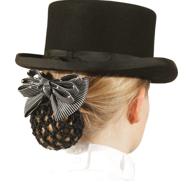 PFFIF Hair Bow Black Stripe