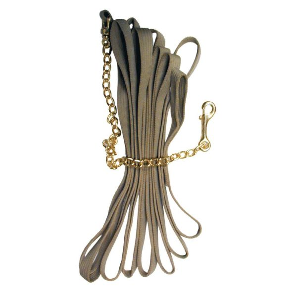 Quality Horse Products Deluxe Cotton Lunge Line with Chain
