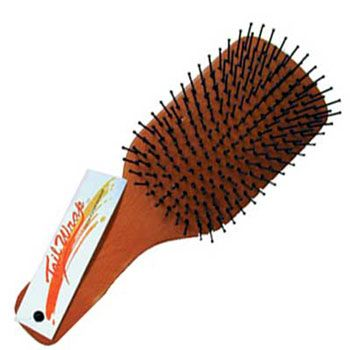 Tail Wrap Mane and Tail Paddle Brush Wood
